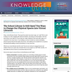 The School Library Is Still Open! Ten Ways to Change Our Physical Spaces into Virtual Libraries