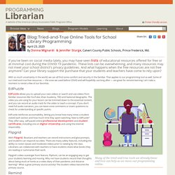 Tried-and-True Online Tools for School Library Programming