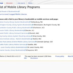 List of Mobile Library Programs - Bookmobiles Wiki