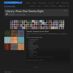 Library: Pixar One Twenty Eight - RenderMan Community