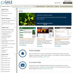 Gale Cengage: Library Research K-12