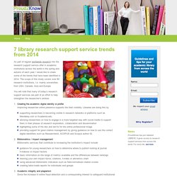 7 library research support service trends from 2014 - Proud2Know