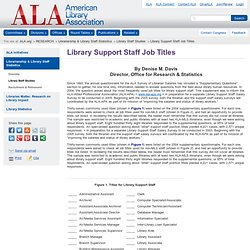 Library Support Staff Job Titles