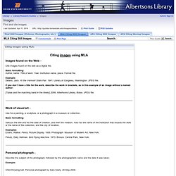 MLA Citing Still Images - Finding & Citing Images & Videos - Library Research Guides at Boise State University