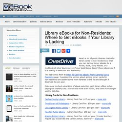 Library eBooks for Non-Residents: Where to Get eBooks if Your Library is Lacking