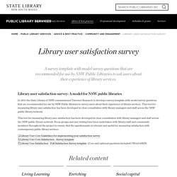 Library user satisfaction survey