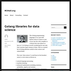 Golang library data science machine learning