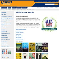 YALSA's Alex Awards