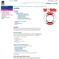 MMU Library Services - InfoSkills