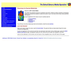 IUPUI The School Library Media Specialist: Course Materials