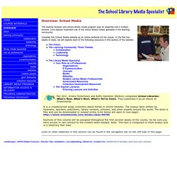 The School Library Media Specialist: Overview