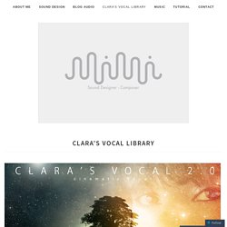 CLARA'S VOCAL LIBRARY – Stefano Maccarelli