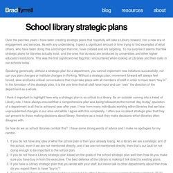 School library strategic plans