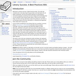 Library Success: A Best Practices Wiki