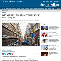 Why you can't find a library book in your search engine | T