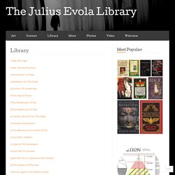Library « The Julius Evola Library