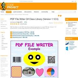PDF File Writer C# Class Library (Version 1.8)