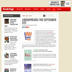 LibraryReads: The September list