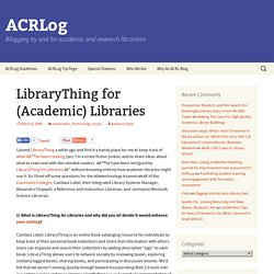 LibraryThing for (Academic) Libraries