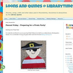 Loons and Quines @ Librarytime: Flannel Friday - Preparing for a Pirate Party!