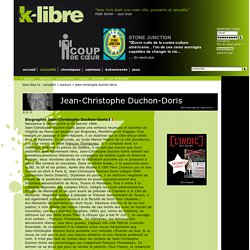 Jean-Christophe Duchon-Doris : Biographie - k-libre.fr