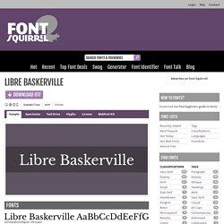 Libre Baskerville Font Free by Impallari Type