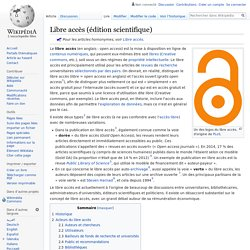 Green open access Libre accès (édition scientifique)