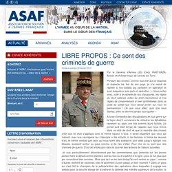 ASSAF : Association de Soutien à l'Armée Française