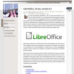 LibreOffice, 10ans, version6.4