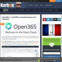 Open365.io - LibreOffice accessible depuis votre navigateur