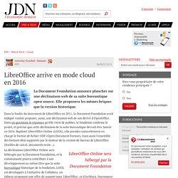 LibreOffice arrive en mode cloud en2016 - JDN