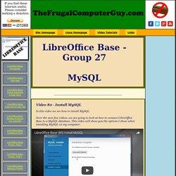 LibreOffice: Base 27 - MySQL