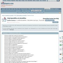 FAQ OpenOffice et LibreOffice, le club des développeurs et IT Pro