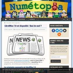 Les principales nouveautés de LibreOffice 7.0