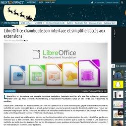 LibreOffice chamboule son interface et simplifie l'accès aux extensions