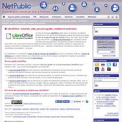 LibreOffice : tutoriels, aide, parcours guidés, modèles et extensions