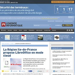 La Région Ile-de-France propose LibreOffice en mode cloud