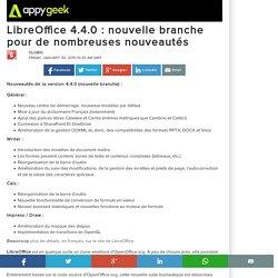 LibreOffice 4.4.0 : nouvelle branche pour de nombreuses nouveautés
