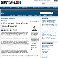 Office Suites: LibreOffice or OpenOffice.org?