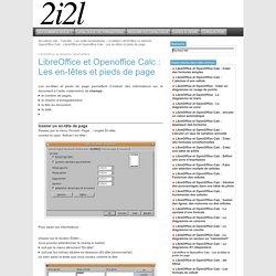 : LibreOffice et Openoffice Calc: Les en-têtes et pieds de page