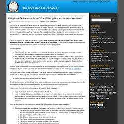 Être plus efficace avec LibreOffice Writer grâce aux raccourcis-clavier - Du libre dans le cabinet !