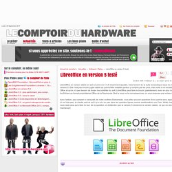 LibreOffice en version 5 testé
