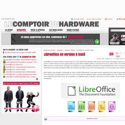 LibreOffice en version 5 testé