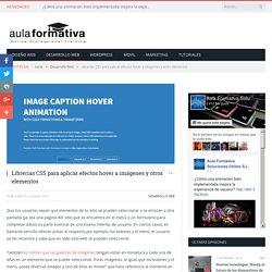 Librerías CSS para aplicar efectos hover a imágenes y otros elementos