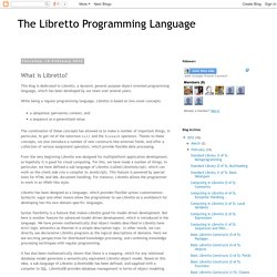 The Libretto Programming Language: What is Libretto?
