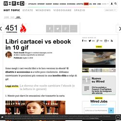 Libri cartacei vs ebook in 10 gif