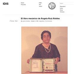 El libro mecánico de Ángela Ruiz Robles