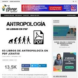 60 libros de Antropología en PDF ¡GRATIS!