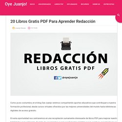 20 libros gratis PDF para aprender Redacción