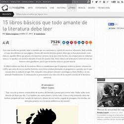 15 libros basicos que todo amante de la literatura debe leer